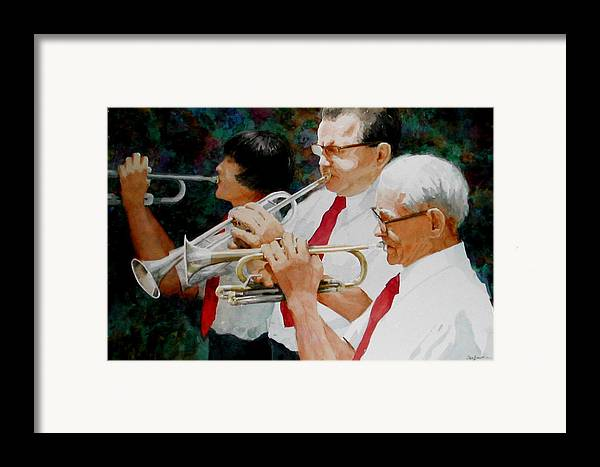 Music Framed Print featuring the painting Generations by Faye Ziegler