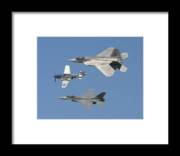 F-22 Framed Print featuring the photograph Generations by Donald Tusa