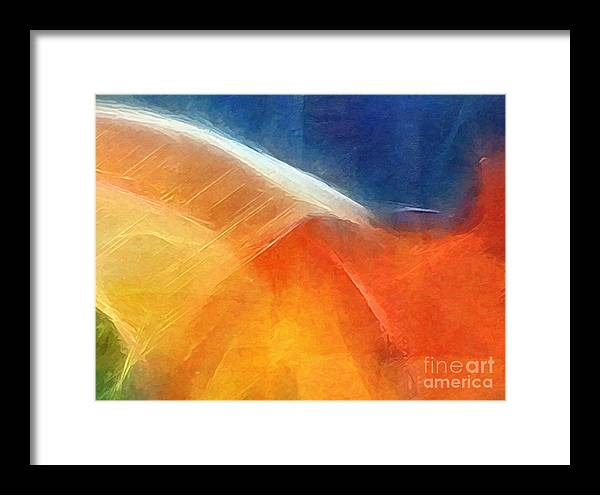 Abstract Framed Print featuring the painting Genesis I by Lutz Baar