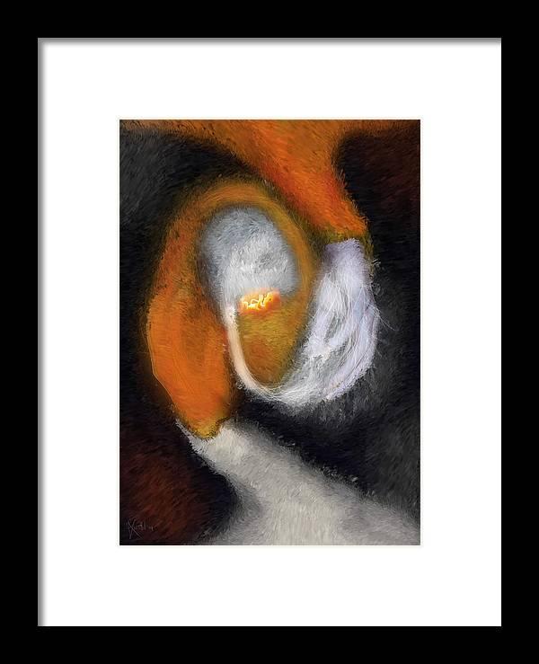 Genesis Framed Print featuring the painting Genesis Of The Elder God by Randhir Rawatlal