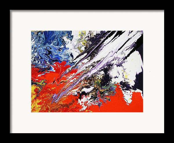 Fusionart Framed Print featuring the painting Genesis by Ralph White