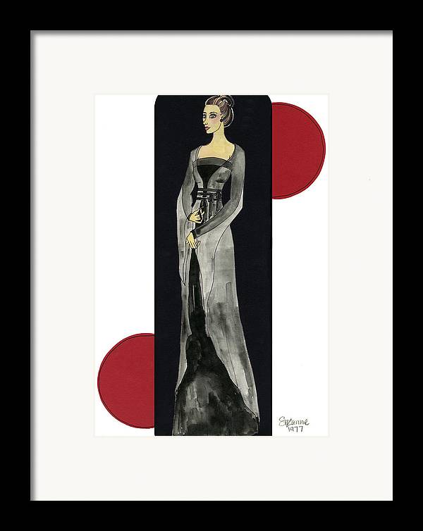 Fashion Framed Print featuring the mixed media Genevieve by Suzanne Blender