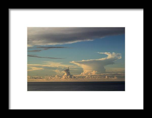 Clouds Framed Print featuring the photograph Genie Bottle by Kimberly Reeves