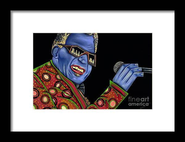 Portrait Framed Print featuring the painting Genius by Nannette Harris