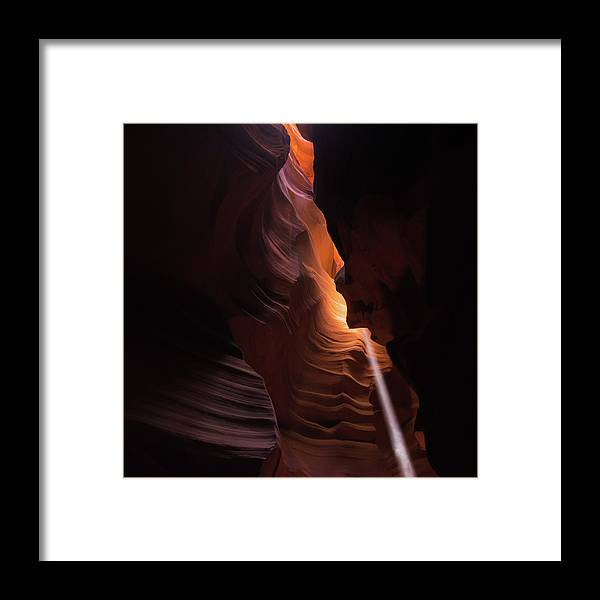 America Framed Print featuring the photograph Gentle Light In Antelope Canyon by Gregory Ballos