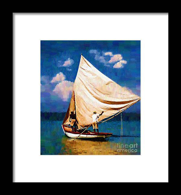 Diane Berry Framed Print featuring the painting Gentle Winds by Diane E Berry