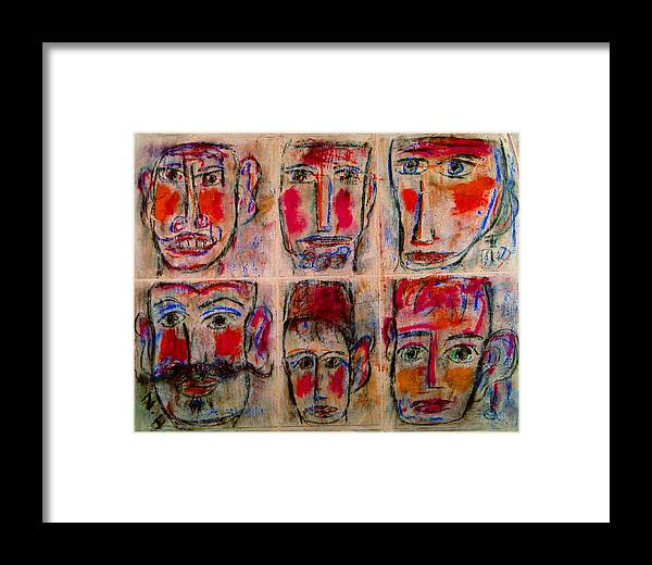 Expressionism Framed Print featuring the mixed media Gentlemen by Natalie Holland