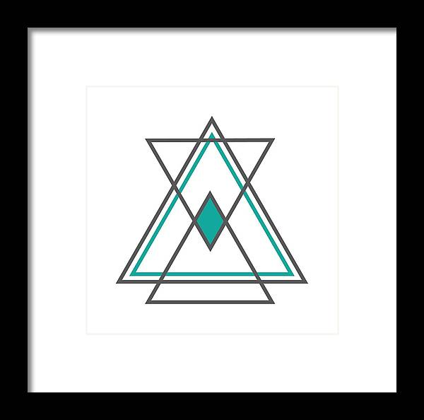 Art Framed Print featuring the digital art Geometric Art by Austin Jackson