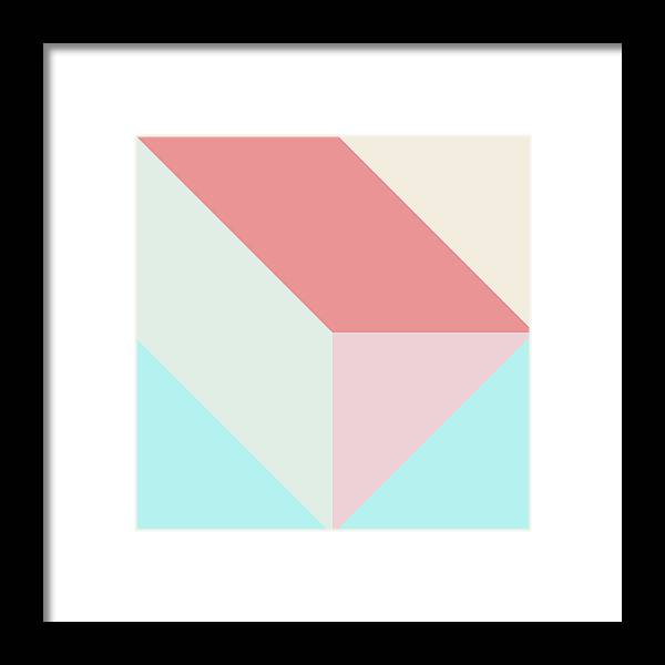 Framed Print featuring the digital art Geometric Pattern Xiv by Ultra Pop