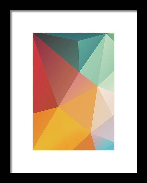 Framed Print featuring the digital art Geometric Xxix by Ultra Pop
