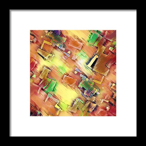 Abstract Framed Print featuring the digital art Geometry In Art by Phil Perkins