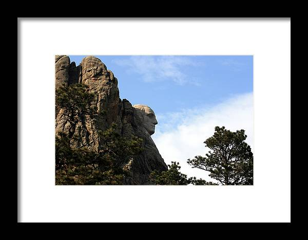 National Park Framed Print featuring the photograph George At Mount Rushmore by George Jones