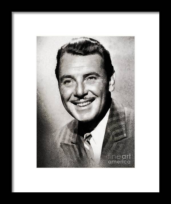 Hollywood Framed Print featuring the painting George Brent, Vintage Actor by John Springfield