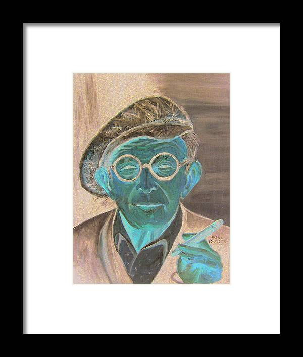 Celebrity Framed Print featuring the painting George Burns by Irene Schilling