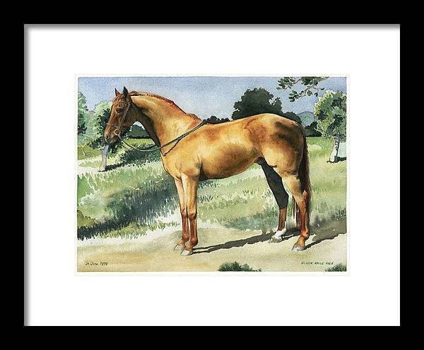 Portrait Framed Print featuring the painting George by Eileen Hale