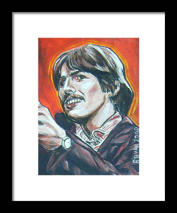 George Harrison Framed Print featuring the painting George Harrison by Bryan Bustard