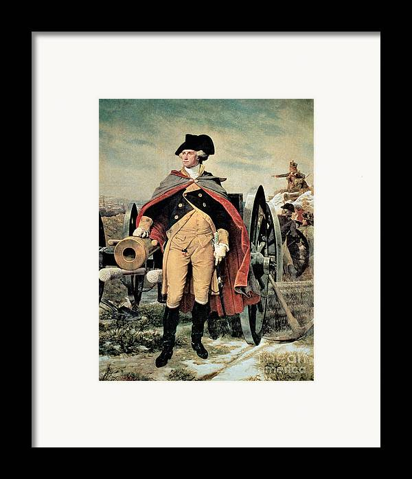 George Washington At Dorchester Heights Framed Print featuring the painting George Washington At Dorchester Heights by Emanuel Gottlieb Leutze