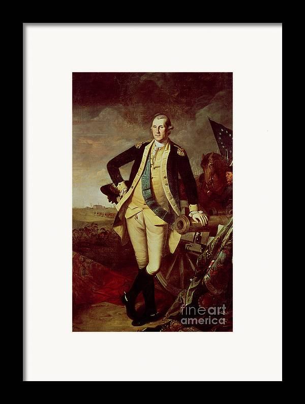 Bal28610 Framed Print featuring the painting George Washington At Princeton by Charles Willson Peale