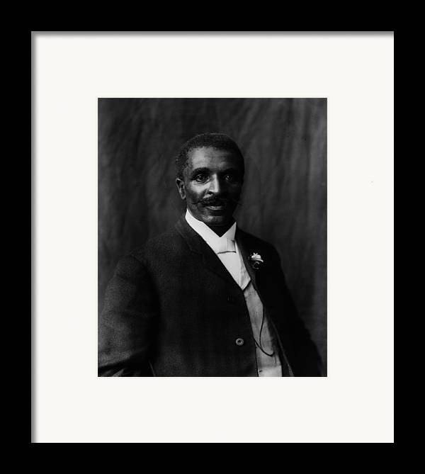 1900s Framed Print featuring the photograph George Washington Carver 1864-1943 by Everett