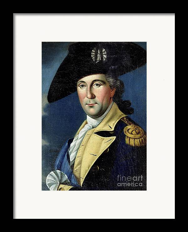 George Framed Print featuring the painting George Washington by Samuel King