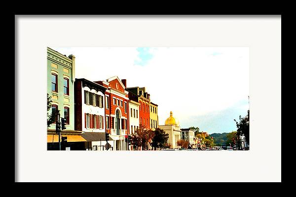 Buildings Framed Print featuring the photograph Georgetown by Bob Gardner