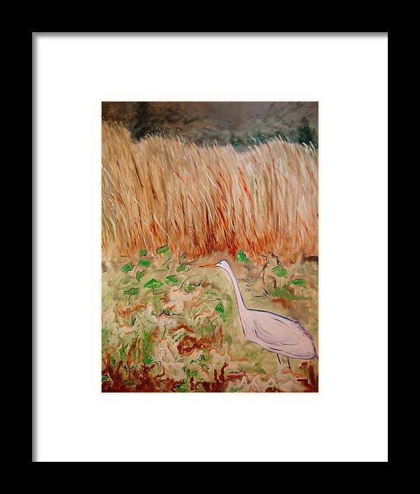 Landscape Framed Print featuring the painting Georgetta's Walk by Scott Plaster