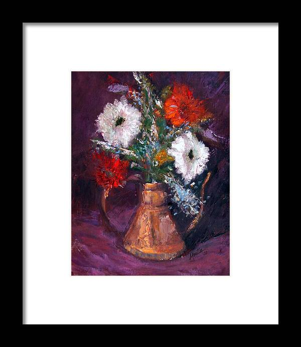 Gerber Daisy Framed Print featuring the painting Gerbers by Athena Mantle