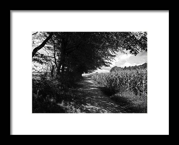 Deutschland Framed Print featuring the photograph German Path Black And White by Edward Myers