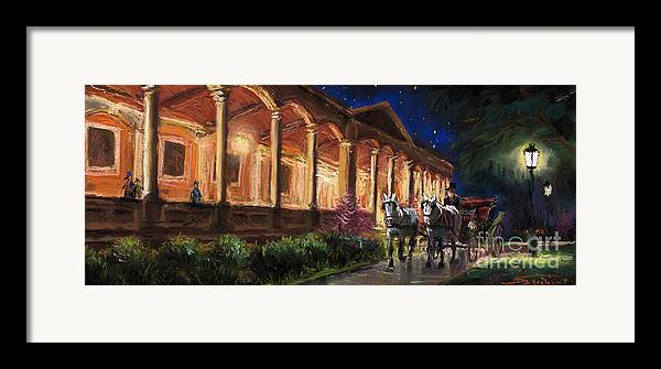 Pastel Framed Print featuring the painting Germany Baden-baden 13 by Yuriy Shevchuk