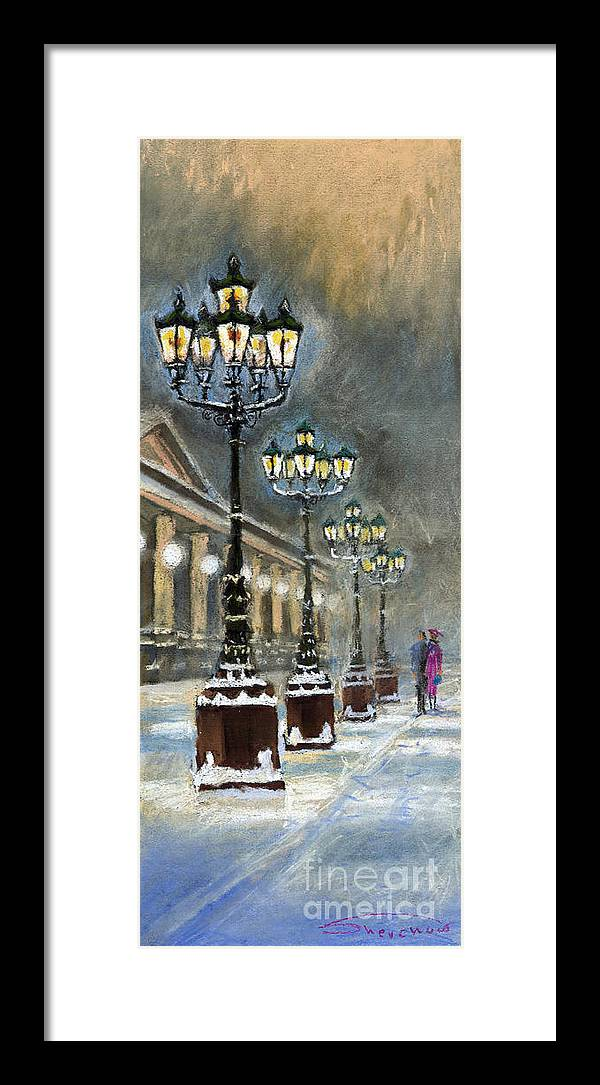 Pastel Framed Print featuring the painting Germany Baden-Baden Kurhaus by Yuriy Shevchuk