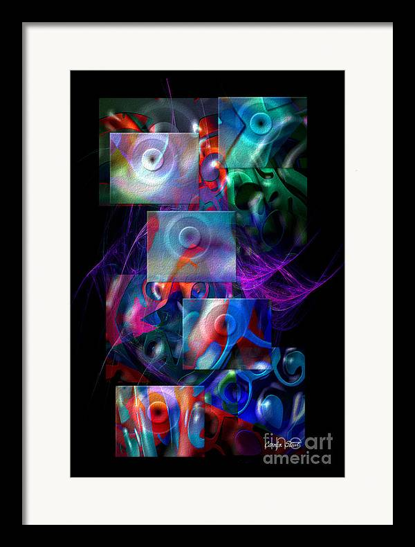 Abstract Color Abstract Realism Framed Print featuring the digital art Get It In Gear by Carolyn Staut
