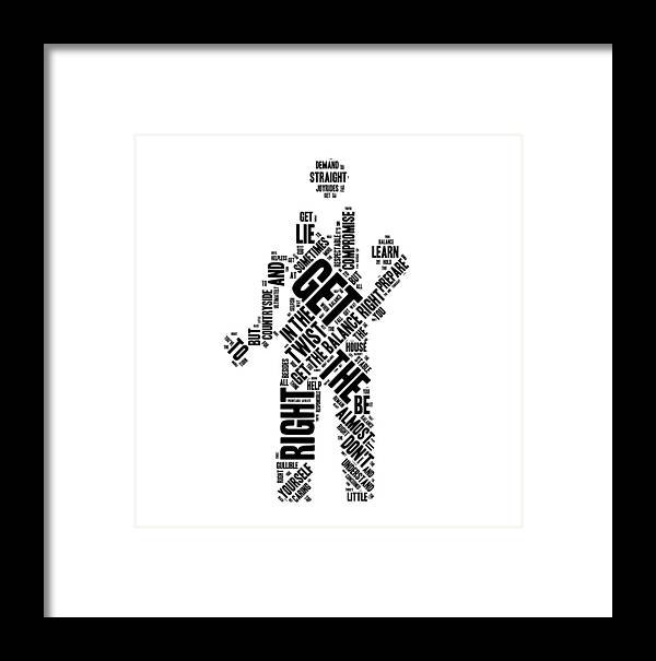 Get The Balance Right Words Framed Print by Luc Lambert