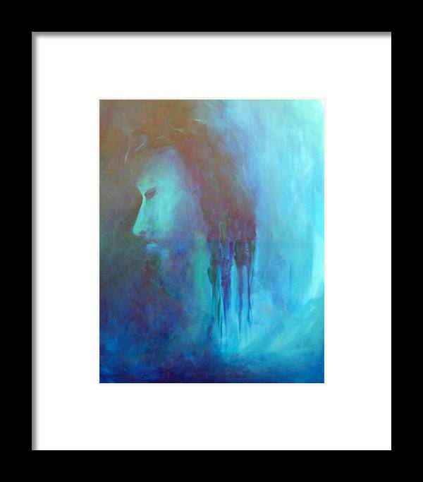 Abstract Framed Print featuring the painting Gethsemane by DeLa Hayes Coward