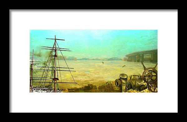 Boat Framed Print featuring the painting Getting Long In The Tooth by Anne Weirich