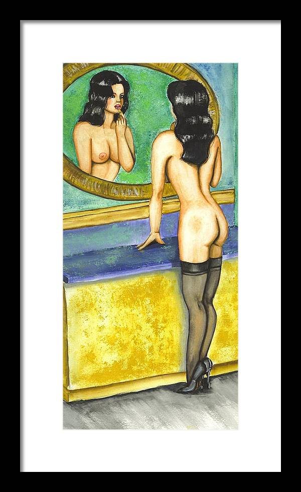 Figure Framed Print featuring the painting Getting Ready by Scarlett Royal