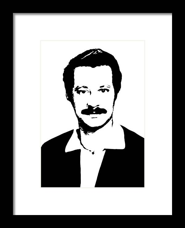 Ghassan Kanafani Framed Print featuring the photograph Ghassan Kanafani by Munir Alawi