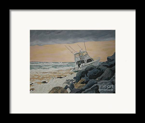 Transportation Framed Print featuring the painting Ghost Captain by Sodi Griffin