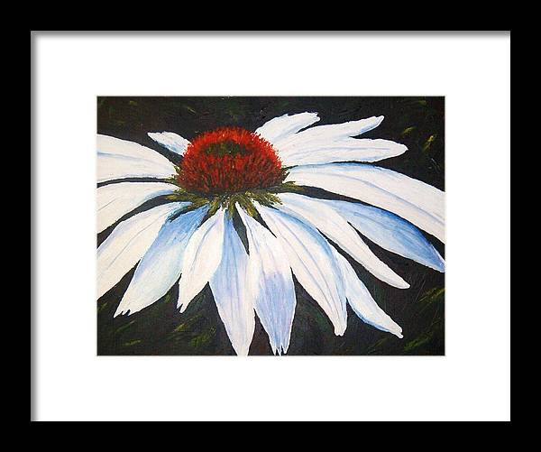 Cone Flowers Framed Print featuring the painting Ghost Cone by Tami Booher