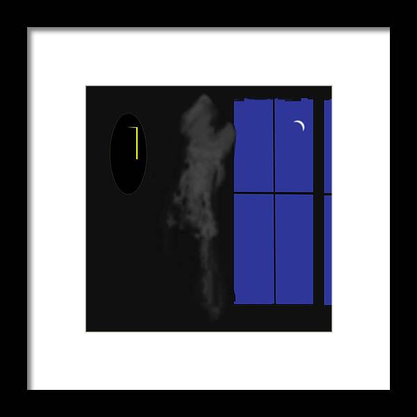 Ghost Framed Print featuring the digital art Ghost by Geoff Simmonds