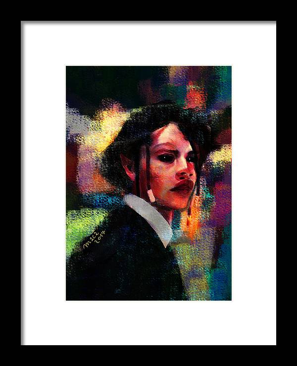 Ghost Framed Print featuring the painting Ghost Of Last Summer 420 by Maciej Mackiewicz