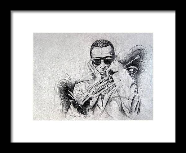 Michael Morgan Framed Print featuring the drawing Ghost Of Miles Past by Michael Morgan
