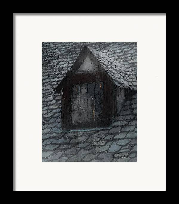 Ghost Framed Print featuring the painting Ghost Rain by RC deWinter