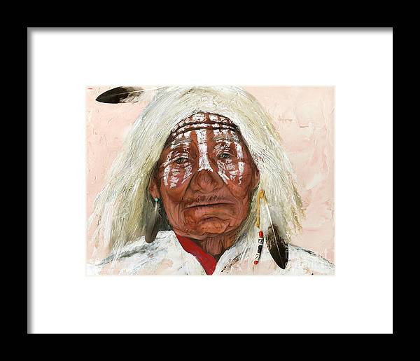 Southwest Art Framed Print featuring the painting Ghost Shaman by J W Baker