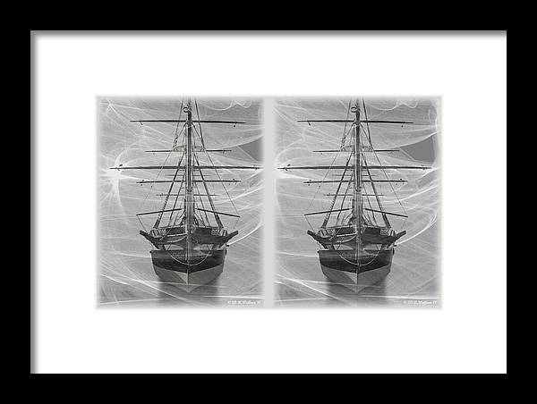 3d Framed Print featuring the photograph Ghost Ship - Gently Cross Your Eyes And Focus On The Middle Image by Brian Wallace
