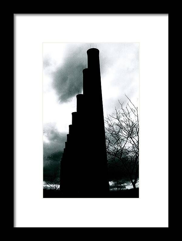 Smoke Stacks Framed Print featuring the photograph Ghost Stacks by Chaz McDowell