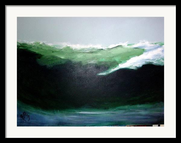 Surf Framed Print featuring the painting Ghost Surfer by Paul Miller