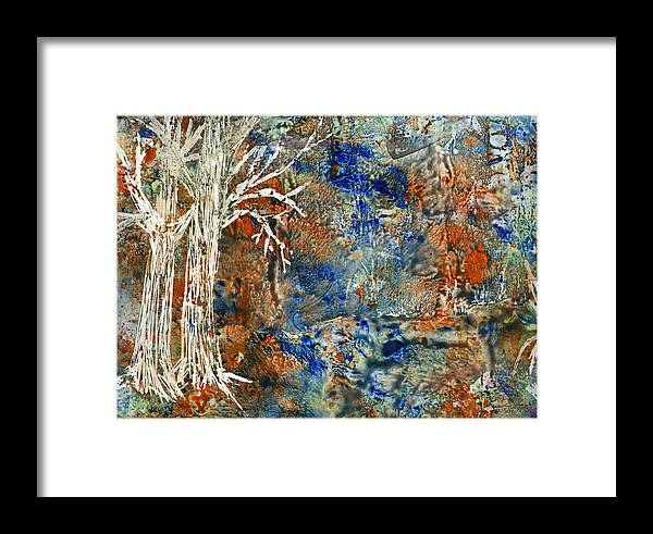 Trees Framed Print featuring the painting Ghost Trees by Wayne Potrafka