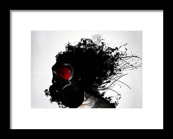 Gas Framed Print featuring the mixed media Ghost Warrior by Nicklas Gustafsson