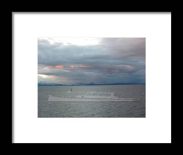 Boat Framed Print featuring the photograph Ghost Whale Watch by Robert Harris
