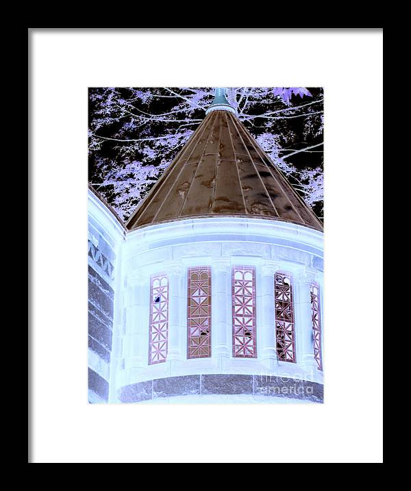 Buildings Framed Print featuring the photograph Ghostly Heights Manor by Angela L Walker